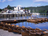 Rowing Boats and Pier  Bowness-On-Windermere  Lake District  Cumbria  England