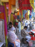Colourful Clothes Shops  Chandni Chowk Bazaar  Old Delhi  Delhi  India
