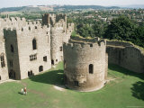 Round Church and Great Hall  Ludlow Castle  Shropshire  England  United Kingdom