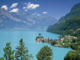 View Over Lake Brienz to Iseltwald  Switzerland