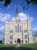 West Front  Salisbury Cathedral  Salisbury  Wiltshire  England  United Kingdom