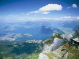 View from Mount Pilatus Over Lake Lucerne  Switzerland