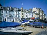 Seafront from Yacht Park  Aberdovey  Gwynedd  Wales  United Kingdom
