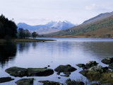 Llyn Mynbyr in the Early Morning  with Snowdonian Mountains Behind  Capel Curig  North Wales
