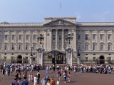 Panoramic View of Buckingham Palace  London  England  United Kingdom