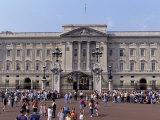 Panoramic View of Buckingham Palace  London  England  United Kingdom