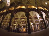 Interior of the Great Mosque  Houses a Later Christian Church Inside  Andalucia