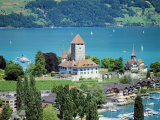 View of Spiez Over Lake Thun  Swiss Lakes  Switzerland