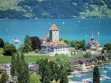View of Spiez Over Lake Thun  Swiss Lakes  Switzerland