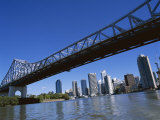 The Storey Bridge and City Skyline Across the Brisbane River  Brisbane  Queensland  Australia