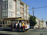 Cable Car on Nob Hill  San Francisco  California  USA