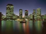 City Skyline and Brisbane River at Night  Brisbane  Queensland  Australia