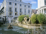 Neptune Fountain and the Promenade  Cheltenham  Gloucestershire  England  United Kingdom