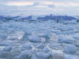 Jokulslarlon Glacial Lagoon  Vatnajokull Icecap  South Area  Iceland  Polar Regions