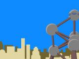 Illustration of the Atomium Sculpture  Brussels  Belgium
