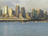 Queen Mary 2 on Maiden Voyage Arriving in Sydney Harbour  New South Wales  Australia