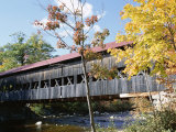 Albany Covered Bridge Over Swift River  Kangamagus Highway  New Hampshire  USA