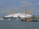 Millennium Dome and the River Thames  Greenwich  London  England  United Kingdom