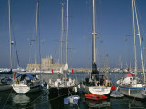 Mandraki Harbour  Rhodes Town  Island of Rhodes  Dodecanese Islands  Greece  Mediterranean