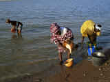 Women by the River Niger  Segou  Mali  Africa