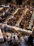 Large Banquet in the Contrada Quarter  Palio  Siena  Tuscany  Italy