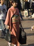 Woman in Kimono  Shibuya  Tokyo  Japan