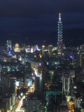City View from Observatory Tower  Taipei City  Taiwan