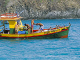 Fishermen on Fishing Boat  Fernando De Noronha  Brazil