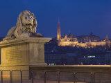 Chain Bridge  Embankment River Buildings  Budapest  Hungary