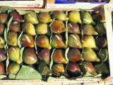 A Box of Figs for Sale in a Market  Tuscany  Italy