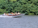 Tourists in Speed Boat Riding on Rio Preguica  Barreirinhas  Brazil