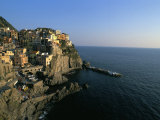 Village of Manarola  Cinque Terre  Unesco World Heritage Site  Liguria  Italy  Mediterranean