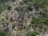 Rock Carved Lycian Tombs  Myra  Anatolia  Turkey  Eurasia