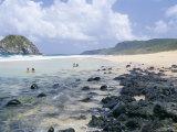 People Swimming at Praia Do Leao Beach  Fernando De Noronha  Brazil