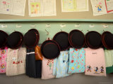 Student Hats and Bags Hanging Up  Elementary School  Tokyo  Honshu  Japan