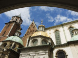 Wawel Cathedral Dating from 14th Century  Old Town  Unesco World Heritage Site  Krakow  Poland