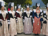 People in Traditional Costumes from Several Regions  Interlaken  Switzerland