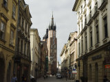Old Town and 14th Century St Mary's Church  Krakow (Cracow)  Poland