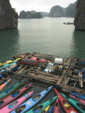 Canoes  Halong Bay  Cat Ba National Park  Northern Vietnam  Southeast Asia