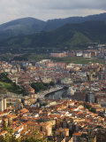 Bilbao River (Ria De Bilbao)  Bilbao  Basque Country  Euskadi  Spain