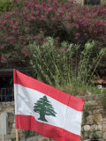 Lebanese Flag  Byblos  Lebanon  Middle East