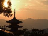 Sunset  Yasaka No to Pagoda  Kyoto City  Honshu  Japan