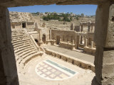 North Theatre  Roman City  Jerash  Jordan  Middle East