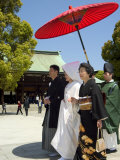 Traditional Wedding Ceremony  Meiji Jingu Shrine  Tokyo City  Honshu Island  Japan