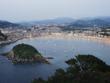 San Sebastian Bay at Night  Basque Country  Euskadi  Spain