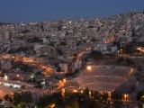 Roman Theatre at Night  Amman  Jordan  Middle East