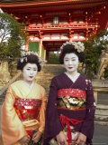 Geisha Maiko at Kiyomizu Dera Temple  Unesco World Heritage Site  Kyoto City  Honshu  Japan