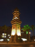 Clock Tower  Downtown at Night  Aleppo (Haleb)  Syria  Middle East