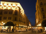 Street Side Cafe Area  Place d&#39;Etoile (Nejmeh Square) at Night  Downtown  Beirut  Lebanon