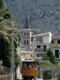 Tren De Soller Tramway  Soller  Mallorca (Majorca)  Balearic Islands  Spain  Mediterranean